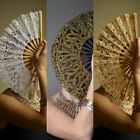 """Lace Spanish Hand Fan Wedding Party 8"""" 20cm GOLD SILVER"""