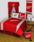 Detroit Red Wings Comforter Sham and Bedskirt Set Twin to King