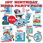 1st Birthday 77 PIECE Mega Party Pack - 77 Pieces - Girl or Boy - Pink or Blue