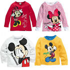 Minnie Mickey Mouse Baby Girls Boys Kids Blouses Tops Shirt Hoodie Sweatshirt