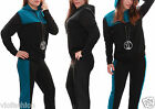 Black Tracksuit Diamond Quilted Hooded Sweatshirt Trousers Casual Teal Two Piece