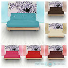 Triple 3 Seater Complete Futon Luxury Cotton Twill  Mattress Sofabed Sofa Guest