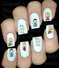 30 SNOOPY CHARLIE BROWN NAIL ART STICKERS WATER TRANSFERS PARTY FAVORS PEANUTS