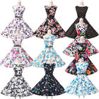 Sexy Audrey Hepburn Style Vintage 1950s Rockabilly Swing Pin Up Evening Dresses