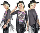 Too Fast She Devil Fringe Top Fly High Tshirt Punk Rock 70's