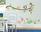 Eco-friendly Scroll Tree Hedgehogs SquirrelNursery Wall Art Stickers Decorations