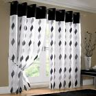 Cool Waves Readymade Lined Eyelet Curtains