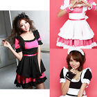 Japan Sexy Cosplay party Fancy Dress Uniform Ruffle Lolita Maid Outfit Set Socks