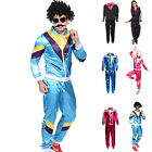 Adult 80s Tracksuit Shell Suit Scouser 1980s Womens Mens Fancy Dress Costume