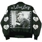 I LOVE LUCY BOMBER LEATHER JACKET Ex 0696