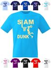 Kids Basketball T Shirt Slam Dunk Shorts Kit Top Hoop Vest Net Ball Boys Girls
