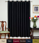 "RETURNED ITEM! Wide Width Nickel Grommet Top Blackout Curtain 80"" by 96"" Panel"