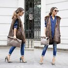 ZARA NEW COLLECTION 2014. BROWN FUR WAISTCOAT VEST JACKET GILET. BLOGGERS.