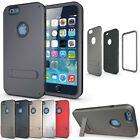 Apple iPhone 6 Strong Box Cover Kick Stand Rugged Hybrid Impact Armor Shell Thin