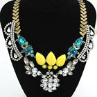 Hot Vintage Flower Bohemian Style Pretty Choker Necklace Crystal Pendant Chain
