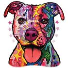 New Neon Blacklight Florescent Dog Print Womans Top Pit Bull T Shirt 18495NBT4