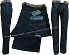 "New Mens Designer Branded Regular Fit Straight Leg Rinse Jeans W30"" - W50"""