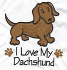 EMBROIDERED   DACHSHUND  FLEECE or HOODIEor  SWEATSHIRT 6 SIZES 8 COLOURS