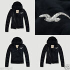 NWT HCO Hollister Women Betty Arrow Point Fur Hoodie Sweatshirt By Abercrombie