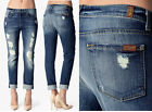$225 NWT SEVEN 7 FOR ALL MANKIND RELAXED SKINNY DESTROYED BOYFRIEND JEANS 2014