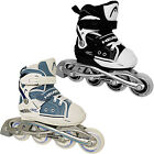 NEW HEAD KIDS GIRLS BOYS ADJUSTABLE INLINE ROLLER SKATES BLADES BLACK BLUE