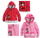 Lovely Minnie Mickey Dot Baby Girls Kids Princess Top Coat Jacket Hoodie Outwear
