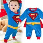 StylesILove Baby Boy Super Hero Costume Jumpsuit and Cape Blue