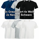10 Fruit of the Loom T-Shirt Herren T-Shirts Gr. S M L XL XXL 3XL 4XL 5XL NEU
