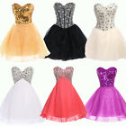 XMAS Girls Sexy Beaded Short Prom Cocktail Evening Party Homecoming Debut Dress