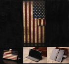 USA flag Luxury Wallet Flip wallet card leather case fr SamSung Iphone Nokia G13