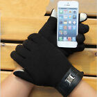 1 pair Winter Warm Touch Screen Riding Drove Play Thick Velvet Gloves for Men