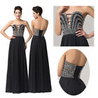 V-Neck Masquerade Wedding Mother of the Bride Ball Gown Evening Party LONG Dress