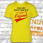 YOU ARE WHAT YOU EAT T-SHIRT - I DON'T REMEMBER EATING A LEGEND! FUNNY NIGHT OUT