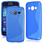 S-line Wave Snap-on TPU Case Cover for Samsung Galaxy Core LTE SM-G386F Core 4G
