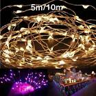 2M/5M/10M 180/50/100leds Copper Wire Christmas Outdoor String Fairy Light DC12V