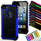 New Heavy Duty Shockproof Dirtproof Case Cover for Apple iPhone 5S 5 6 6S Plus