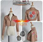 Attack on Titan The Garrison Stationed Corps Cosplay Jacket Coat Custom Made