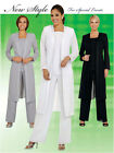 3Pc Pant/Jacket Suit, Mother of the bride dress,Party, Wedding, Church Plus Size