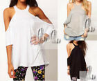 AU SELLER Womens Casual Sexy Off Shoulder Top T-Shirt Beach Cover Up T011