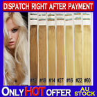 """22"""" Double Drawn Skin Tape Remy Human Hair Extensions Strong Tape Extra Length"""