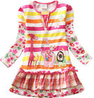 Kids Baby Girl Animal Printed One Piece Tutu Dress Ruffled Dress Clothes 1-6Y UK