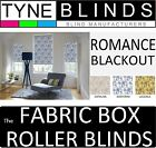 The FABRIC BOX - ROMANCE BLACKOUT made to measure ROLLER BLINDS - straight edge