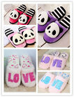 1pair New Winter Women Warm Bow Thermal Cotton-Padded Lovers Cute Slippers Shoes