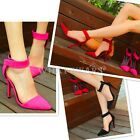 Womens Ladies Hollow Summer Pointed High Heel Shoes 3 Color 35~39 FKS