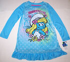 Nwt New Smurfs Smurfette Smurf Nightgown Pajamas Sleepwear Flower Blue Cute Girl