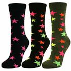 Womens Ladies Girls Star Pattern Mid Calf Ankle Crew Short Socks New Lot