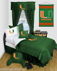 Miami Hurricanes Bed in a Bag Twin Full Queen Size Comforter Set