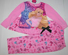 Nwt New Mattel Barbie Pajamas Sleepwear Pink Princess Tiara Crown Sleeves Girl