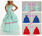 Stock Baby Girls Flower Party Formal Wedding Bridesmaid Party Dress Size 4 to 12