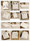 1X New Women White Casual Slim POLO Simple Collar Cotton Long Sleeve T-Shirts
